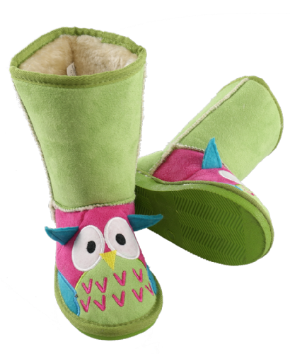 Kids Owl Toasty Toez Slipper Boots - Lazy One®